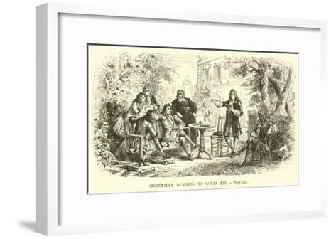 Corneille Reading to Louis XIV--Framed Art Print