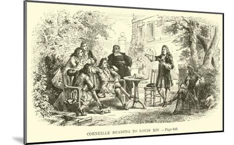 Corneille Reading to Louis XIV--Mounted Giclee Print