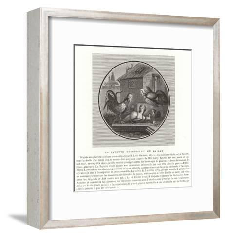 The Marquis De Lafayette Wooing Madame Bailly--Framed Art Print