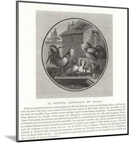 The Marquis De Lafayette Wooing Madame Bailly--Mounted Giclee Print