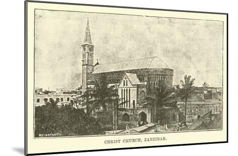 Christ Church, Zanzibar--Mounted Giclee Print
