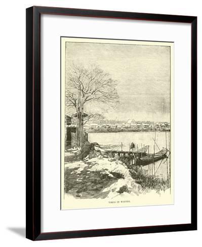 Tokio in Winter--Framed Art Print