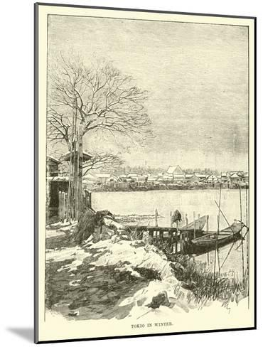 Tokio in Winter--Mounted Giclee Print