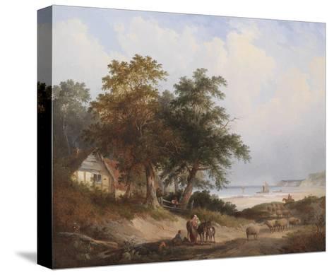 A Coastal Landscape, Isle of Wight-Henry John Boddington-Stretched Canvas Print