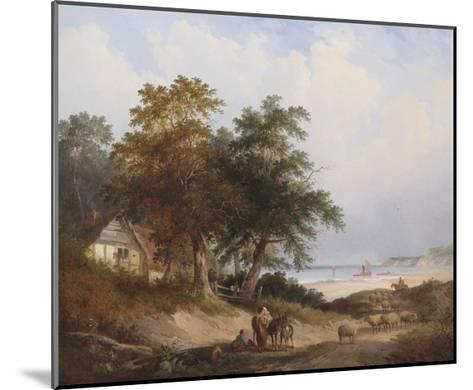 A Coastal Landscape, Isle of Wight-Henry John Boddington-Mounted Giclee Print