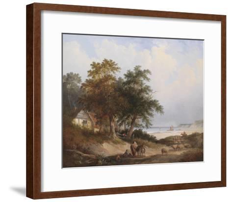 A Coastal Landscape, Isle of Wight-Henry John Boddington-Framed Art Print