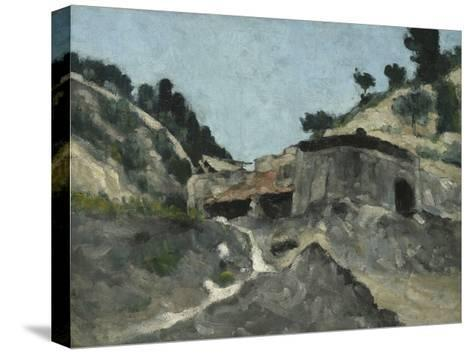Landscape with Water Mill, C.1871-Paul C?zanne-Stretched Canvas Print