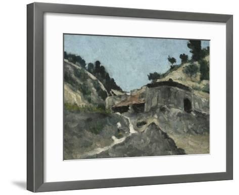 Landscape with Water Mill, C.1871-Paul C?zanne-Framed Art Print