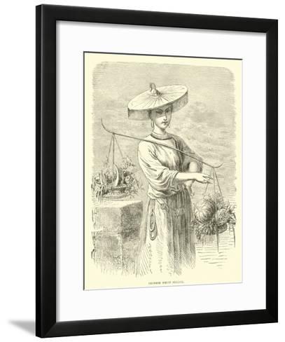 Chinese Fruit Seller--Framed Art Print