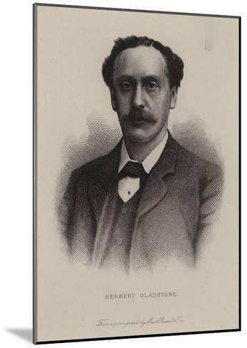 Herbert Gladstone, British Politician--Mounted Giclee Print