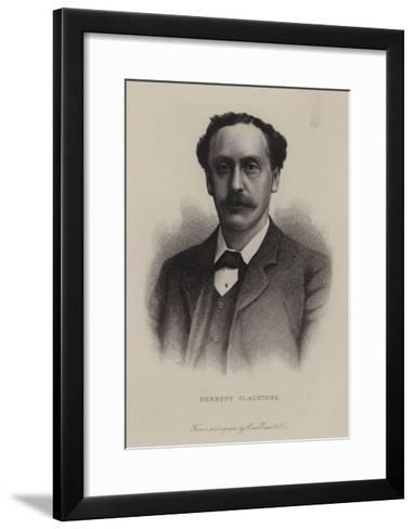 Herbert Gladstone, British Politician--Framed Art Print