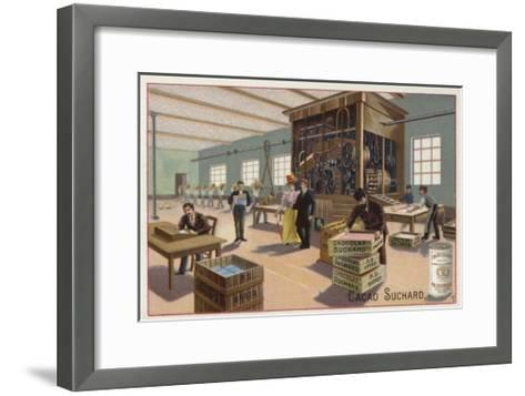 Machine for Making Cocoa into Chocolate--Framed Art Print