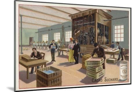 Machine for Making Cocoa into Chocolate--Mounted Giclee Print