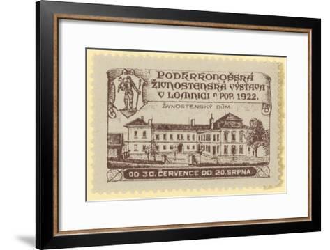 Trade Exhibition, Lomnica., Czechoslovakia, 1922--Framed Art Print