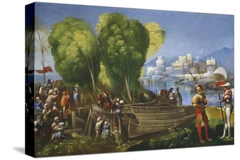 Aeneas and Achates on the Libyan Coast, C.1520-Dosso Dossi-Stretched Canvas Print