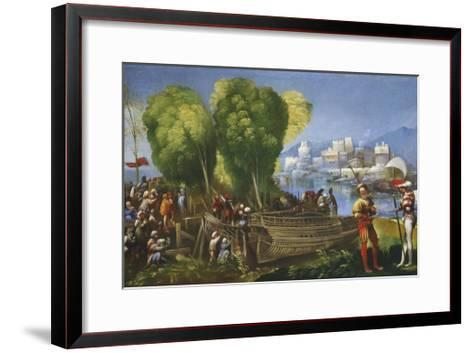 Aeneas and Achates on the Libyan Coast, C.1520-Dosso Dossi-Framed Art Print