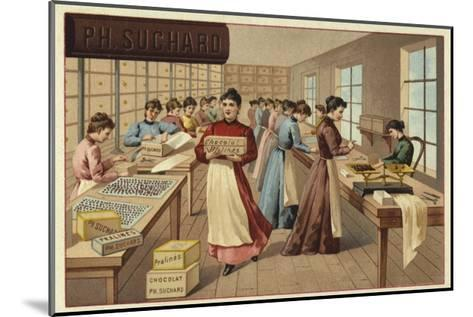 Packing Chocolates in a Factory--Mounted Giclee Print
