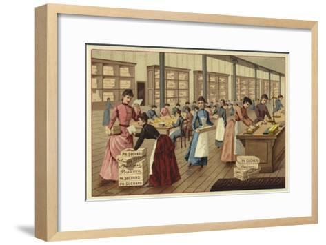 Packing Chocolates in a Factory--Framed Art Print
