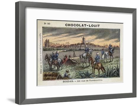 In Sight of Timbuktu, French Sudan--Framed Art Print