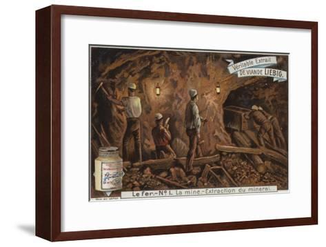 Liebig Card Featuring the Iron Industry--Framed Art Print