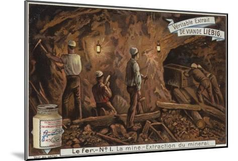 Liebig Card Featuring the Iron Industry--Mounted Giclee Print