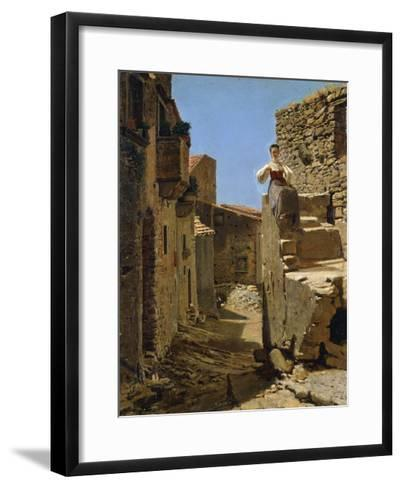 Country Road with Ruins-Filippo Palizzi-Framed Art Print