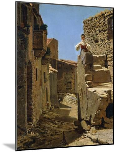Country Road with Ruins-Filippo Palizzi-Mounted Giclee Print