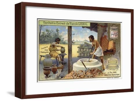 Potters in Antiquity--Framed Art Print