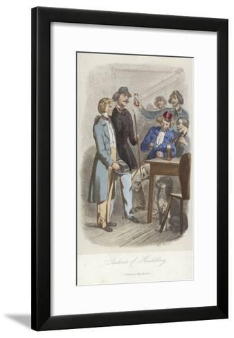 Students of Heidelberg--Framed Art Print