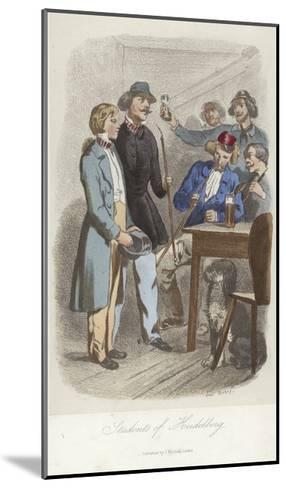 Students of Heidelberg--Mounted Giclee Print