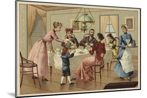 Family Drinking Chocolate--Mounted Giclee Print