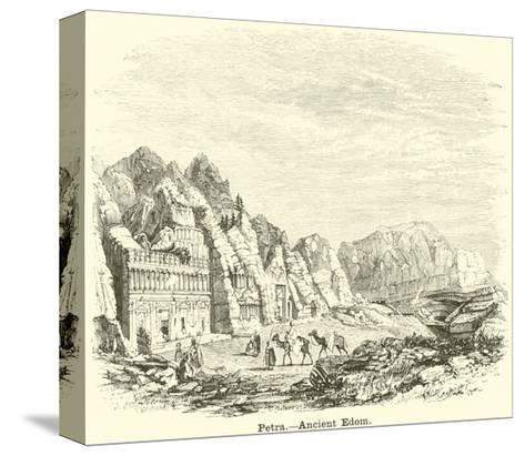 Petra, Ancient Edom--Stretched Canvas Print