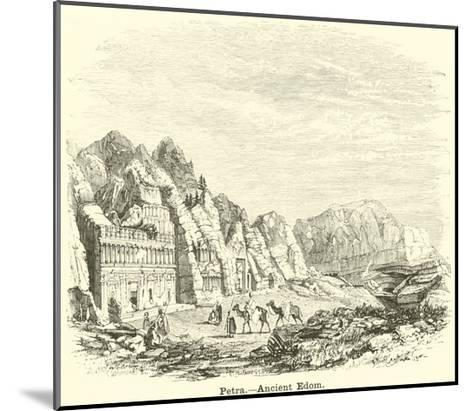Petra, Ancient Edom--Mounted Giclee Print