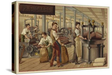 Chocolate Manufacturing--Stretched Canvas Print