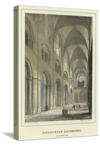 Chichester Cathedral, Nave Looking East-Hablot Knight Browne-Stretched Canvas Print