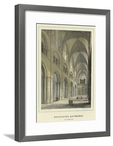 Chichester Cathedral, Nave Looking East-Hablot Knight Browne-Framed Art Print