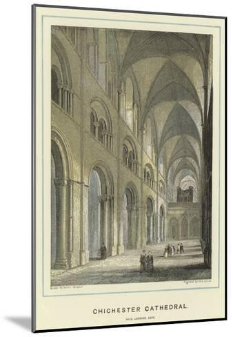 Chichester Cathedral, Nave Looking East-Hablot Knight Browne-Mounted Giclee Print