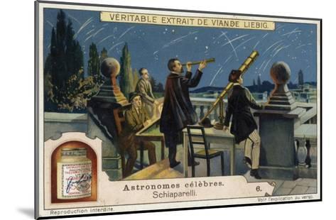 Giovanni Schiaparelli, Italian Astronomer--Mounted Giclee Print