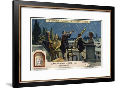Giovanni Schiaparelli, Italian Astronomer--Framed Art Print