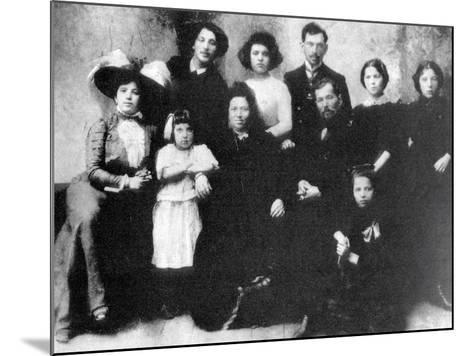 Family of the Artist Marc Chagall, 1890--Mounted Photographic Print