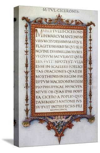 Cicero's Philippics--Stretched Canvas Print