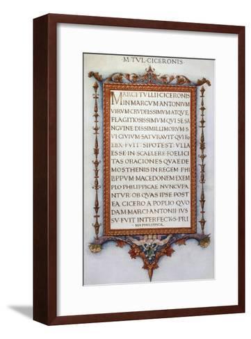 Cicero's Philippics--Framed Art Print