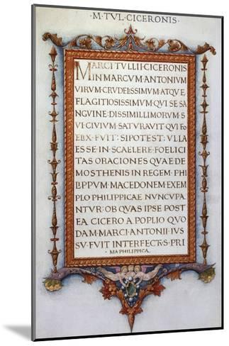Cicero's Philippics--Mounted Giclee Print