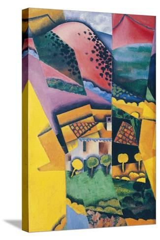 Landscape at Ceret, 1913-Juan Gris-Stretched Canvas Print