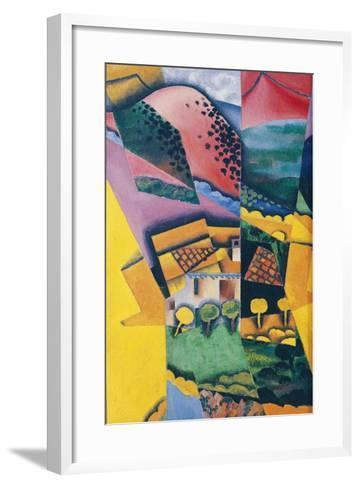 Landscape at Ceret, 1913-Juan Gris-Framed Art Print