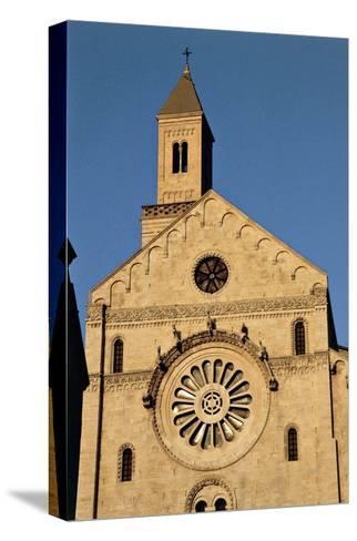 Italy, Puglia, Bari, Facade of Bari Cathedral--Stretched Canvas Print