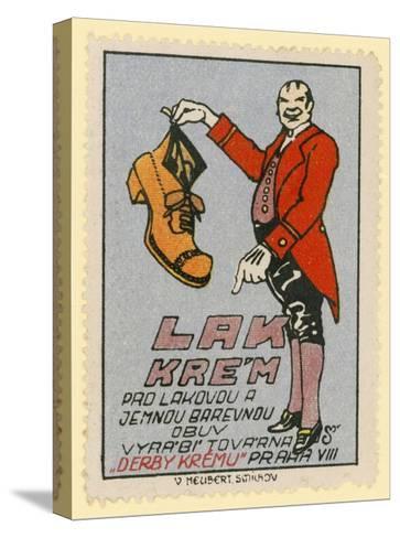 Derby Shoe Polish--Stretched Canvas Print