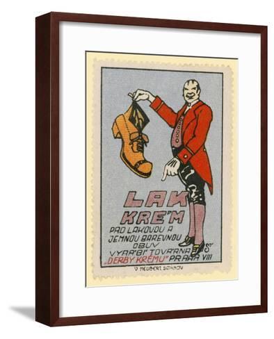 Derby Shoe Polish--Framed Art Print