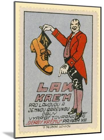 Derby Shoe Polish--Mounted Giclee Print