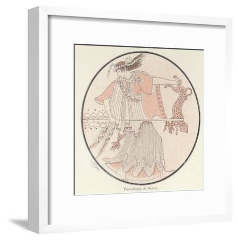Detail of Greek Pottery--Framed Art Print